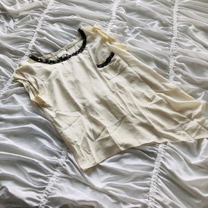Greylin White Embellished Asymmetrical Top